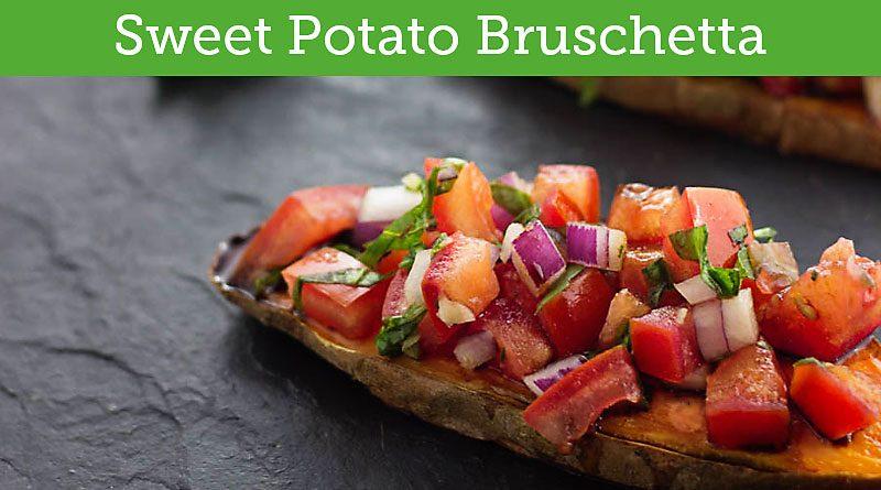 Sweet Potato Toast Vegan Bruschetta